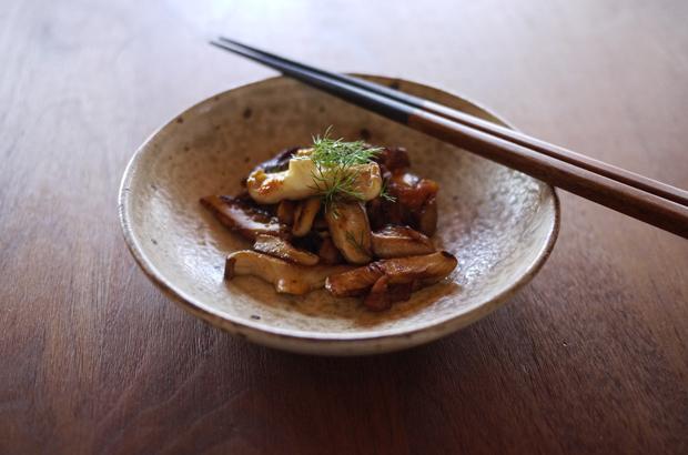 椎茸の梅おかか炒め