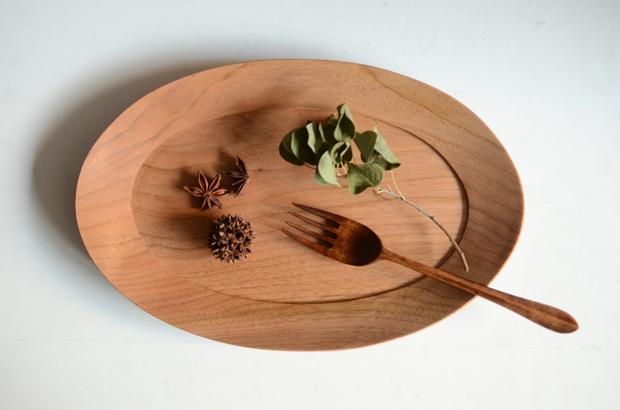 高塚和則 くるみオーバル皿