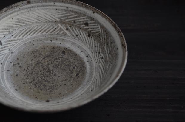 八田亨 彫三島5寸鉢