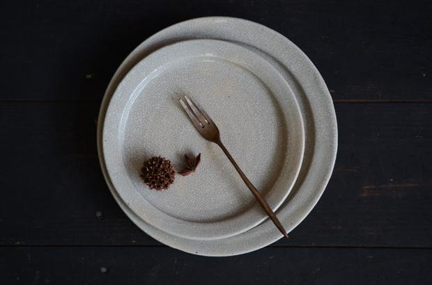 林拓児 貫入リム皿 6寸 7寸