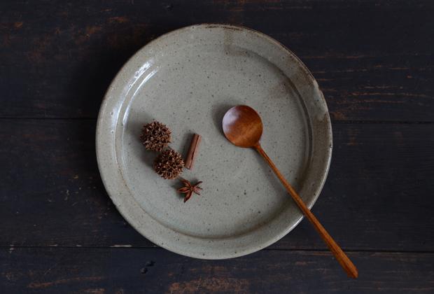 寺村光輔 泥並釉7.5寸リム皿