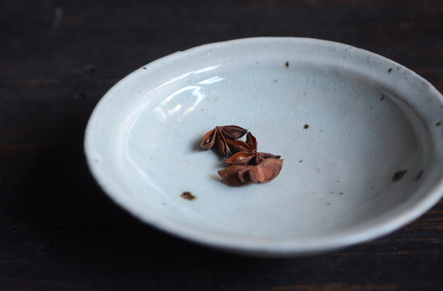 八田亨 粉引5寸リム鉢