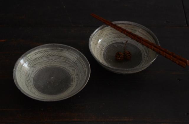 八田亨 三島手5寸鉢