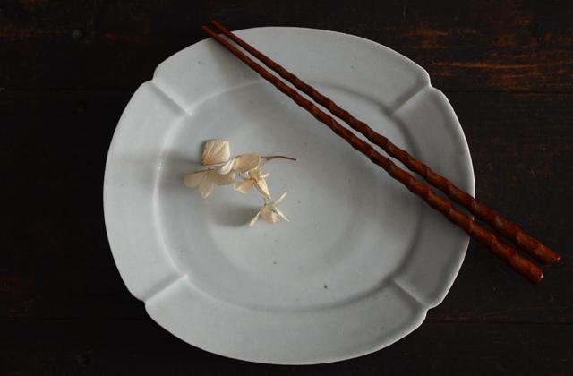 関口憲孝 白磁木瓜皿