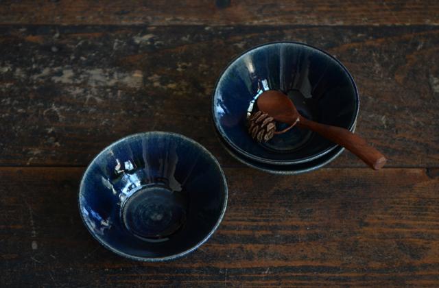 田谷直子 青瑠璃台形小鉢