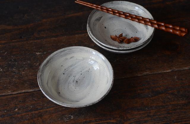 増田勉 刷毛目4.5寸皿