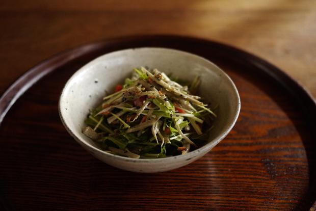 牛蒡と水菜のサラダ