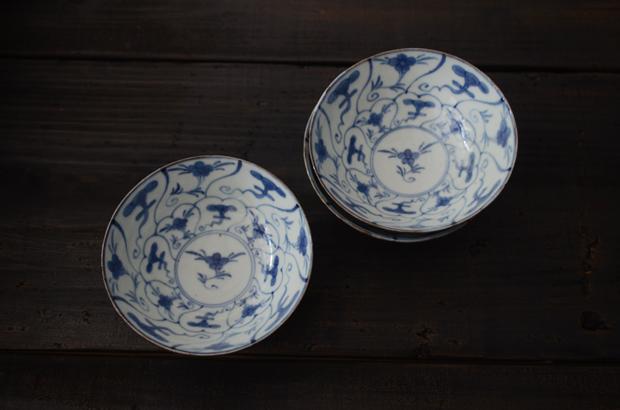 藤吉憲典 染付霊芝文4.5寸鉢