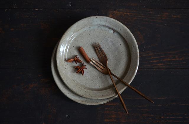 寺村光輔 泥並釉5.5寸リム皿