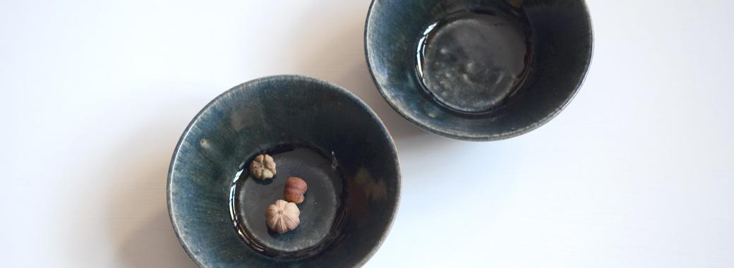 田谷直子 台形青瑠璃小鉢