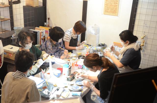 天野志美さんの金継教室 第2期2回目