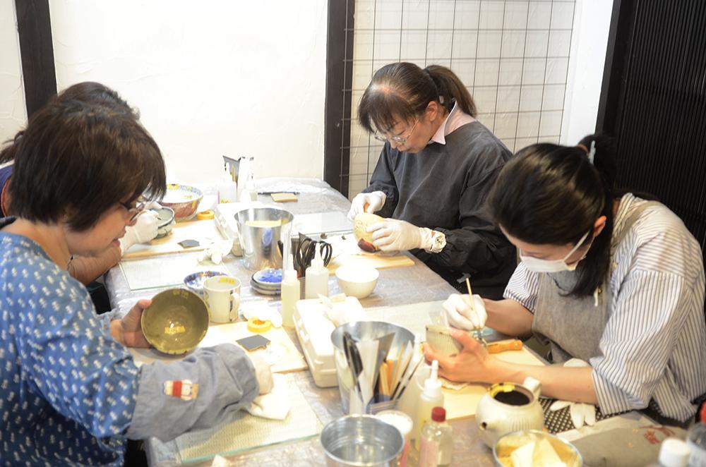 天野志美さんの金継教室4回目でした