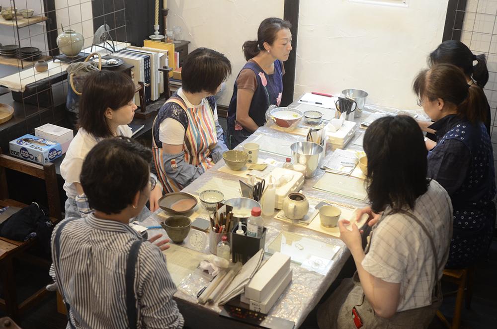 天野志美さんの金継教室6回目、最終回です