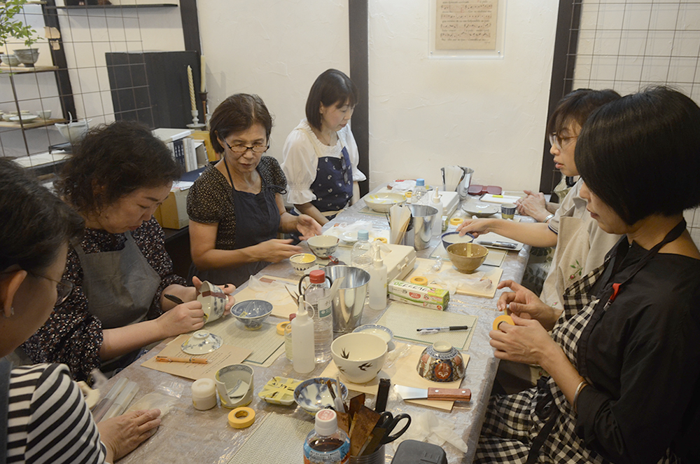 天野志美さんの「はじめての金継教室」 第2回目