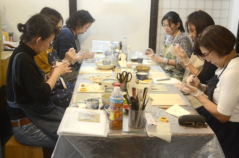 天野志美さんの「はじめての金継教室」 第4回目
