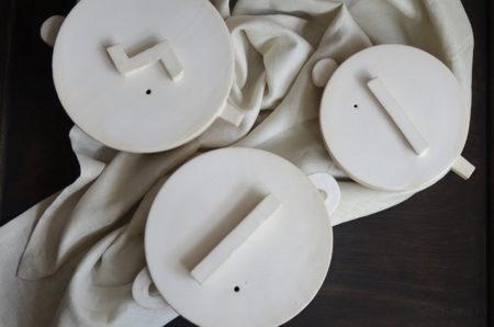 内田可織展 蓋フラット鍋とごはん鍋一合炊き