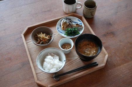 【朝ごはん】鯖の塩焼き定食
