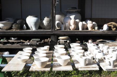 10月24日(土)から開催する個展を前に山田隆太郎さんの工房にお邪魔してきました