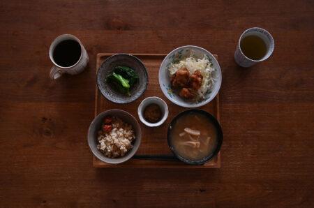 石田辰郎さんの飯碗で朝ごはん